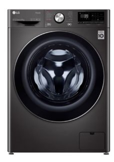 LG TurboWash 360 with AI DD V9 F4V909BTSE WiFi-enabled 9 kg 1400 Spin Washing Machine - Black