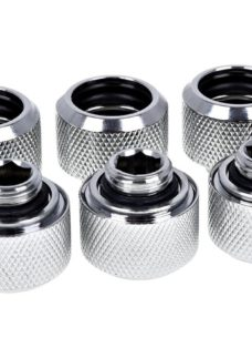ALPHACOOL Eiszapfen 16 mm Chrome HardTube Compression Fitting - Silver
