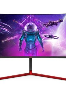 "AOC AG353UCG Wide Quad HD 35"" Curved LCD Gaming Monitor - Black & Red"