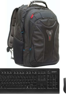 WENGER On The Go Essentials Bundle - Backpack & Wireless Keyboard & Mouse