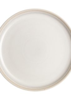 Natural Canvas Textured Coupe Dinner Plate